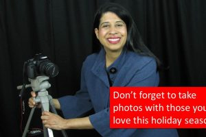 Don't forget to take photos with those you love this holiday season